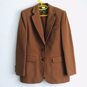 Jackets & Blazers - Ralph Lauren tan brown blazer